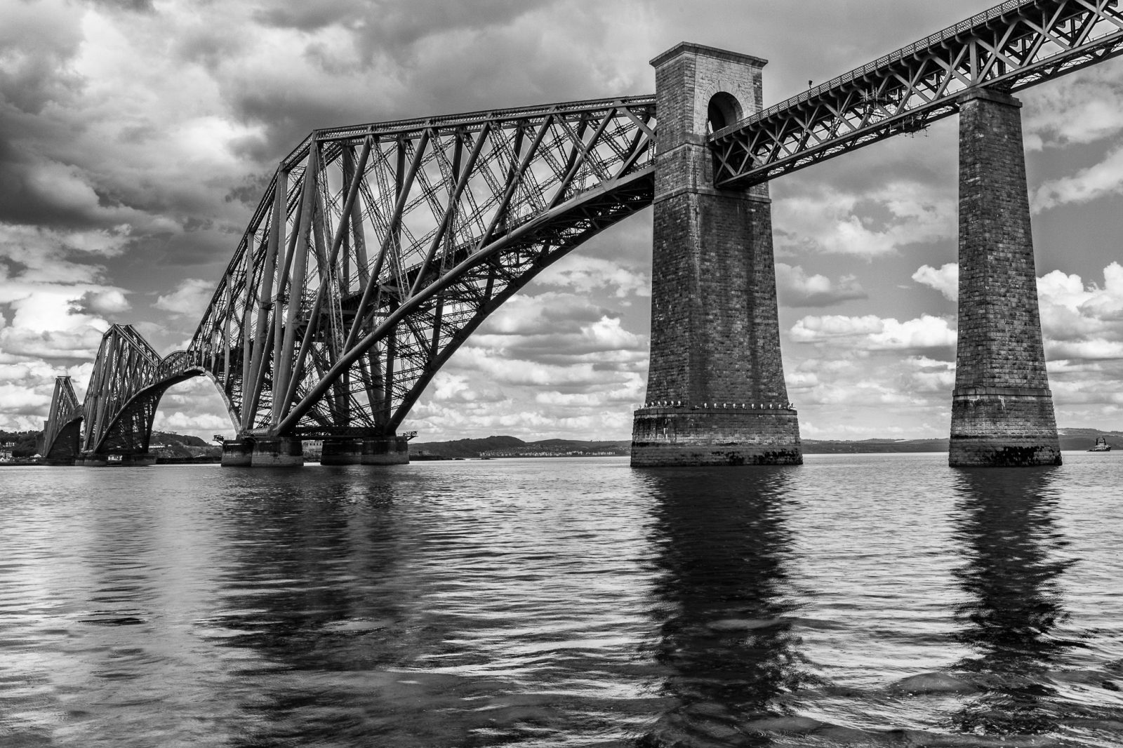 The iconic Forth Rail Bridge